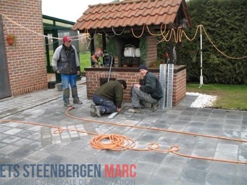 Ets Steenbergen Marc Sprl - parking en pierre bleu