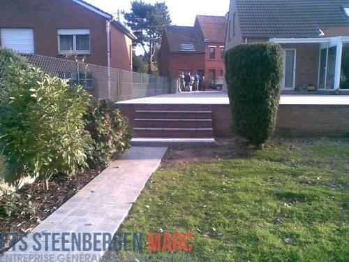 Ets Steenbergen Marc Sprl - trottoir en pierre bleu