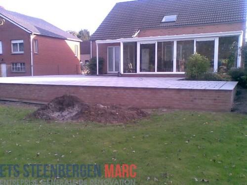 Ets Steenbergen Marc Sprl - terrasse en pierre bleu