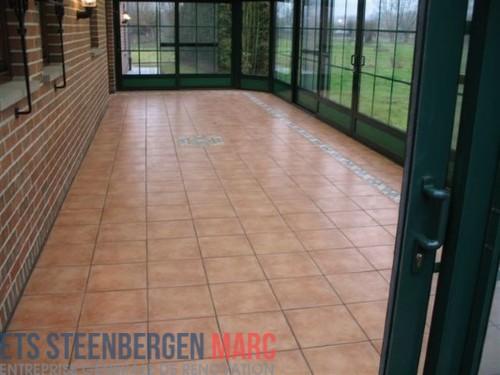 Ets Steenbergen Marc Sprl - carrelage veranda